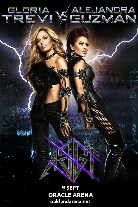 Gloria Trevi & Alejandra Guzman at Oracle Arena