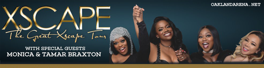 Xscape, Monica & Tamar Braxton at Oracle Arena