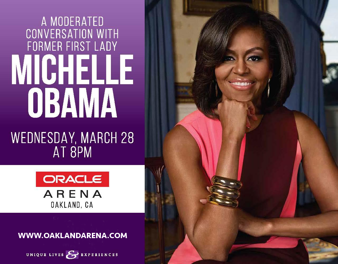 Michelle Obama at Oracle Arena